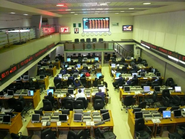 Trading room of Lagos stock exchange-