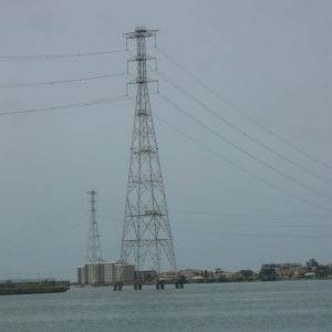 Electrical pylon in Lagos, Nigeria