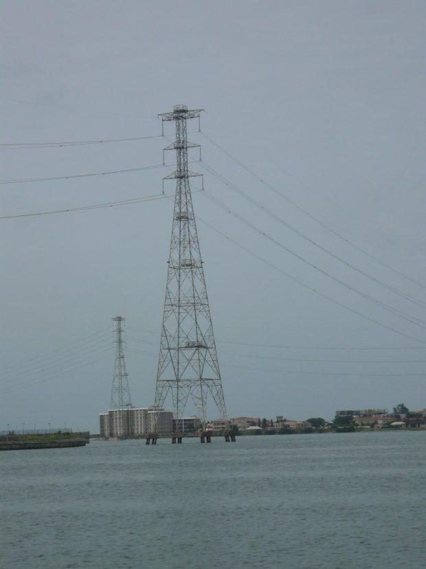 Electrical pylon in Lagos, Nigeria
