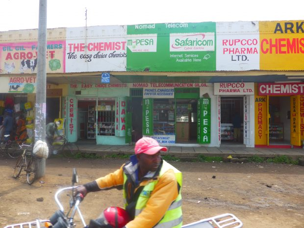 Un kiosque M-Pesa au Kenya.