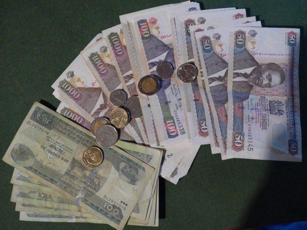 Des billets de banques africains