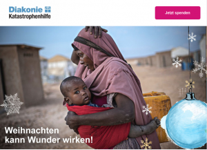Christmas donation campaign of a German organisation: Donating for needy families in Somalia