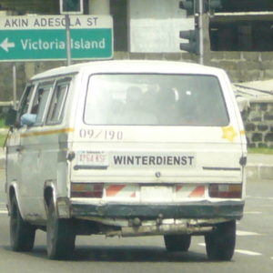 A German car in the streets of Lagos, Nigeria