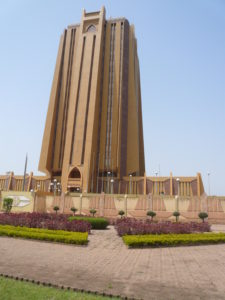 The BCEAO Tower in Bamako, Mali.