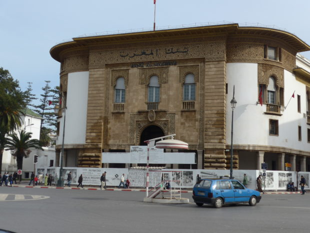 The Central Bank in Morocco's capital Rabat