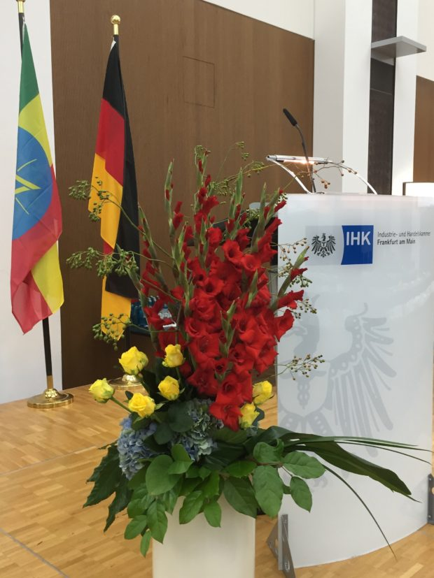 The Ethiopian-German Economic Forum held on 31 August 2018 at the Frankfurt Chamber of Commerce.