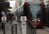 The tramway in Casablanca, Morocco: An example of European infrastructure in Africa.