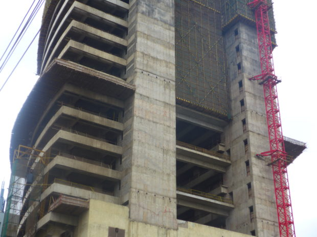 Construction site in Kenya's capital city Nairobi.