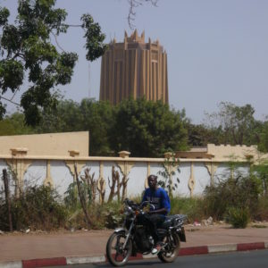 Bamako, Mali: Tower of the BCEAO office. (c) Christian v. Hiller