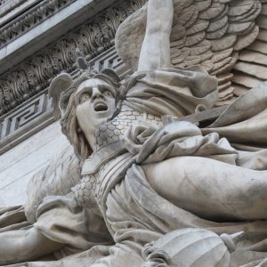 Angel at the Arc de Triomphe in Paris