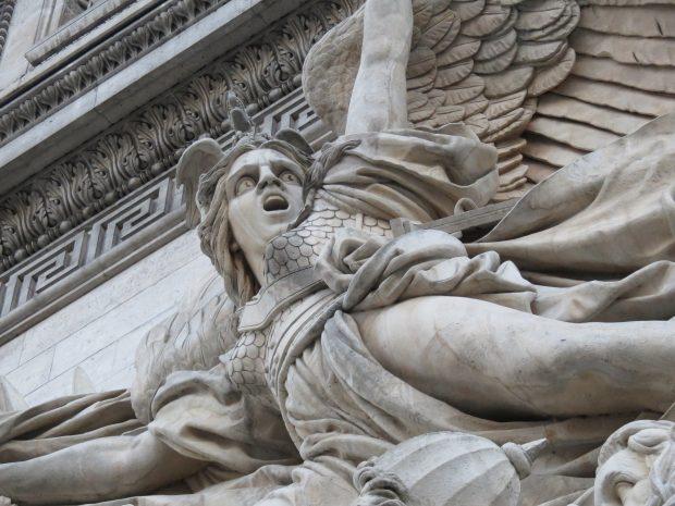 Angel at the Arc de Triomphe in Paris