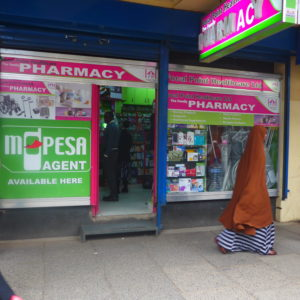 M-Pesa agent in Nairobi.