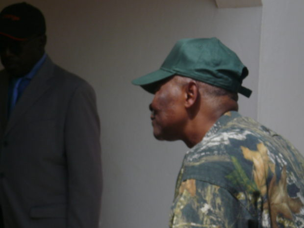 Meeting then Malian President Amadou Toumani Touré in February 2012: He had to leave office three weeks later.