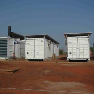 Dieselgeneratoren auf einer Anlage in Mali. (c) Christian Hiller von Gaertringen